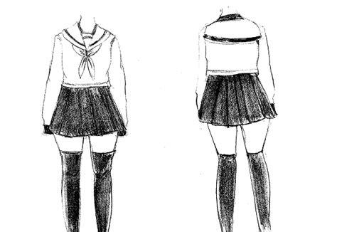 tutorial dasi kotak cara menggambar seragam manga cewek lengkap mayagami