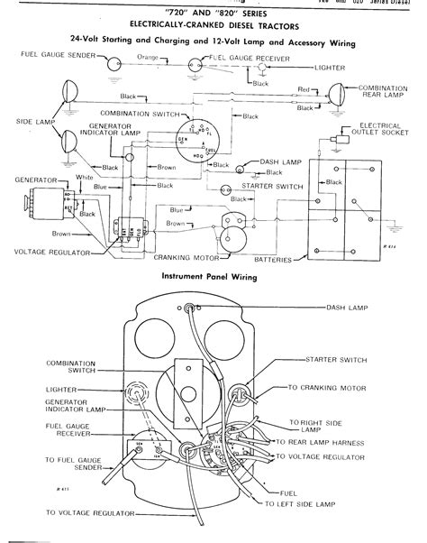 starter manual switch deere tractor years systems gas voltage system diagram power shift