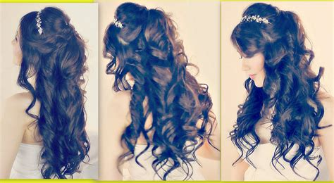 half up half down prom hairstyles youtube romantic hairstyles half up half down updo for prom