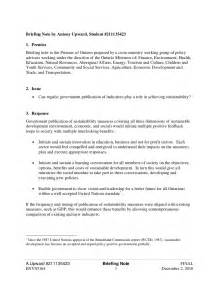 Ministerial Briefing Template by Briefing Note Can Regular Government Publication Of