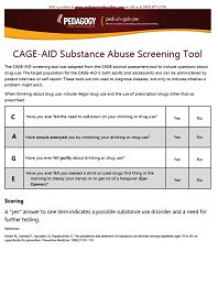 printable cage questionnaire cage aid substance abuse screening tool online