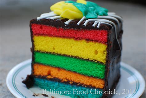 rainbow cake baltimore food chronicle