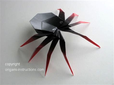 Origami Spider Diagram - animals origami 3d spider origami paper origami guide