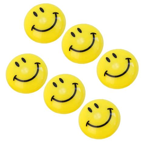 fridge emoji 6pcs round cartoon emoji smile smiley face fridge magnets