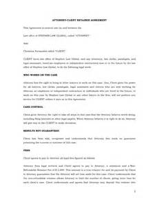 Retainer Agreement Template Uk design retainer agreement template its every templates