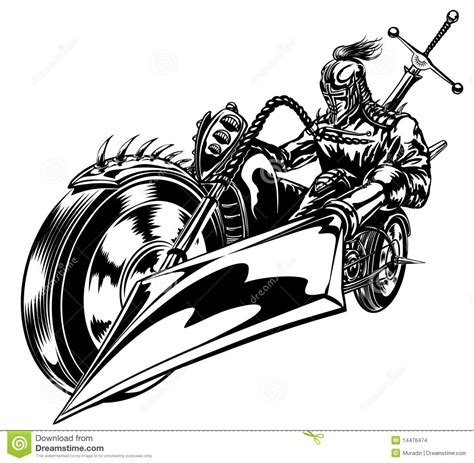 motorbike crusader stock vector image of rock bike