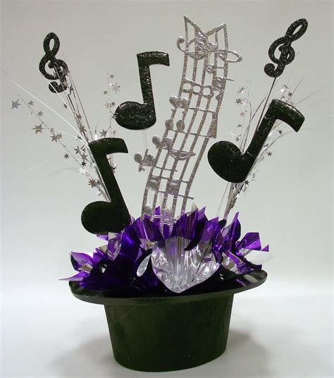 Music Themes For Parties | music themed centerpiece kit for party table decorations