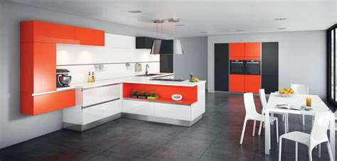 Superbe Cuisine En L Ouverte Sur Salon #2: cuisine-destructuree-blanc-noir-orange-glossy-comera_5533283.jpg