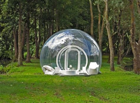 backyard bubble floating in a bubble enjoy cing under the stars in