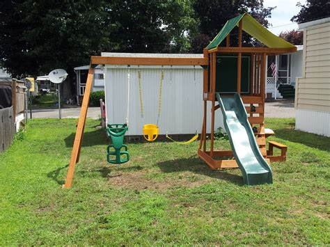 springfield swing set e street assembly big backyard cedar summit built