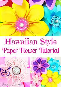 How To Make Hawaiian Paper Flowers - s crafty how to make hawaiian paper flowers