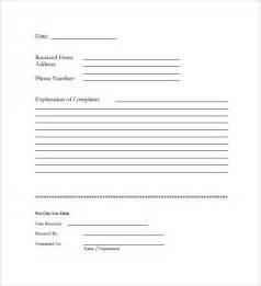 customer complaint template sle customer complaint form exles 8 free