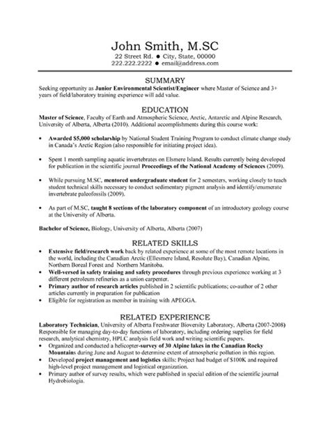 Resume Format Lab Technician Laboratory Technician Resume