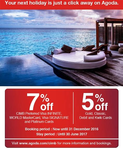 agoda credit card promotion 2017 malaysia credit card promotions and discount deals