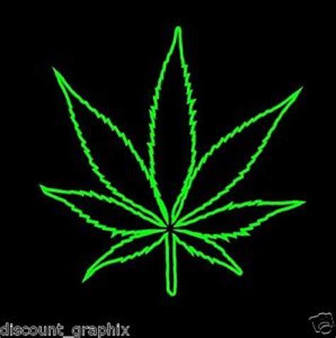 Rasta Home Decor by Pot Leaf Outline Decal Wall Art Marijuana Weed Cannabis