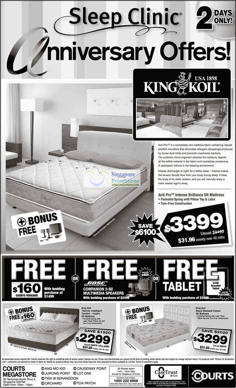 king koil bamboo comfort classic 28 may mattresses king koil acti pro intense brillance