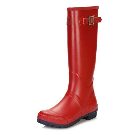 joules womens knee high matt wellington boots pull on