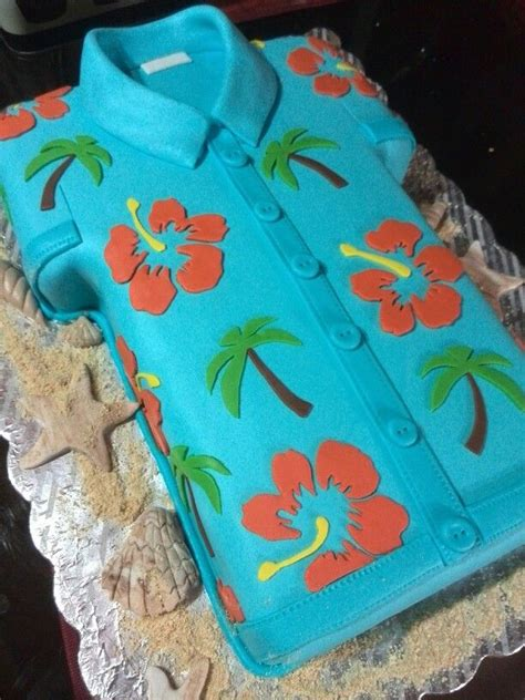 bizcocho decorado hawaiano torta hawaiana tortas para dama pinterest cake