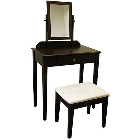 Espresso Makeup Vanity Set by Kennedy 3 Vanity Set Espresso Walmart