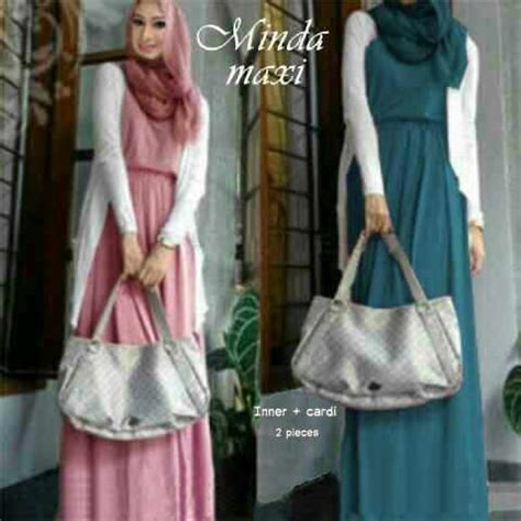 Gratis Ongkir Gamis Santai Simple gamis modern minda maxi model busana muslim dress