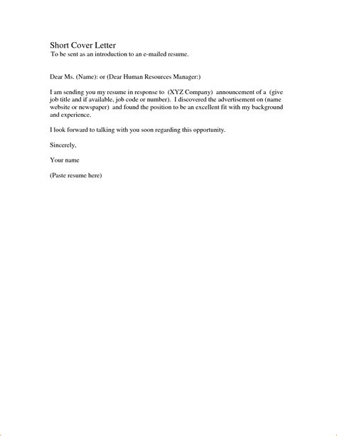 simple cover letter 7 simple cover letter for application basic
