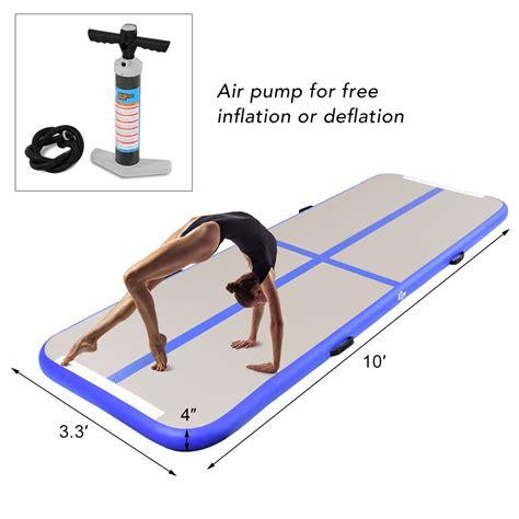 10 x 12 tumbling mat goplus gymnastics tumbling mat air track floor