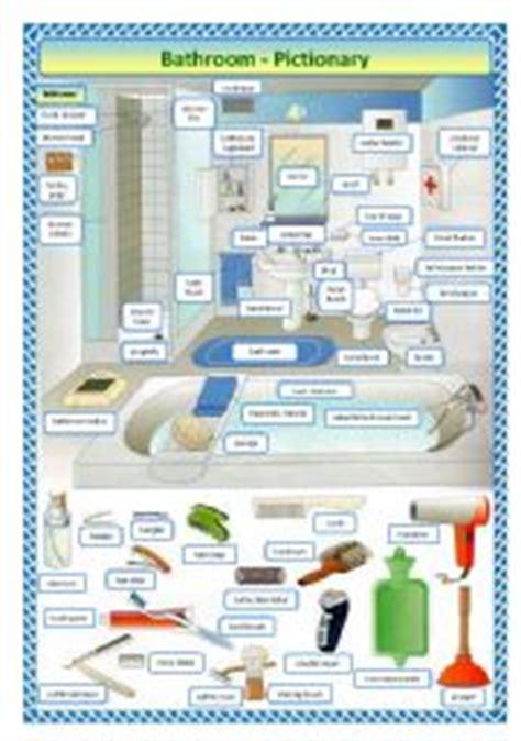bathroom components english teaching worksheets the bathroom
