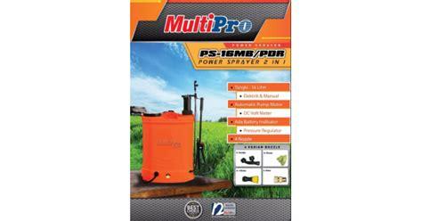Daftar Harga Alat Semprot Tanaman alat semprot manual electric sprayer 2 in 1 multipro 16 ltr