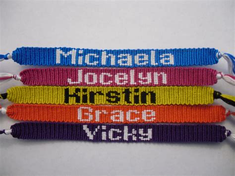 name pattern friendship bracelet names friendship bracelets