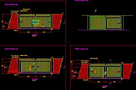 access gate dwg detail  autocad designs cad