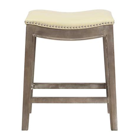 Beige Leather Counter Stools by Mystique Beige Bonded Leather Counter Stool Kirklands