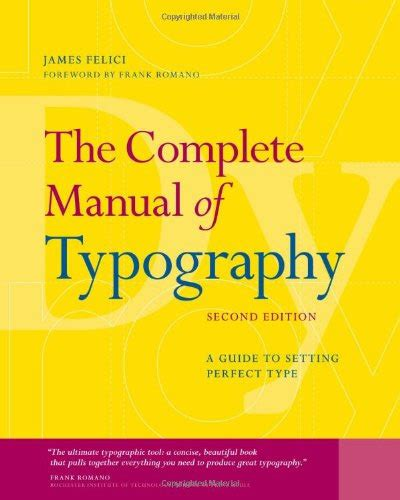 tutorial typography manual the complete manual of typography a guide to setting