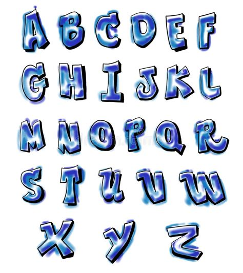 graffiti alphabet stock illustration illustration