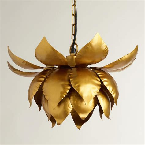 Lotus Flower Pendant Light with Copy Cat Chic 1st Dibs Brass Lotus Flower Chandelier