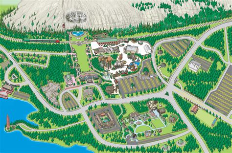 attractions in map attractions map mountain park