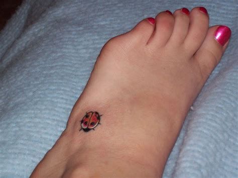 ladybug tattoo exactly love the placement my style
