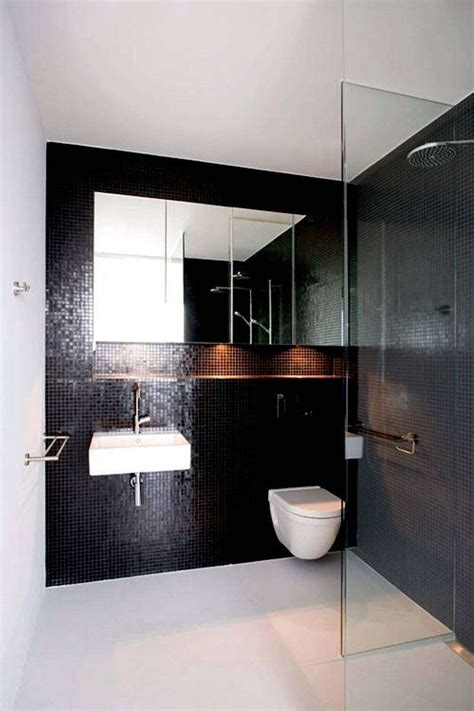 black mosaic bathroom 5 simple methods to visually enlarge your bathroom