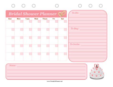 printable wedding shower planner bridal shower event planner