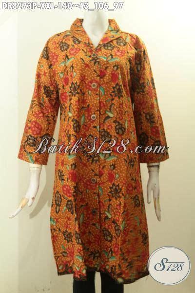 Baju Batik Bigsize model baju batik big size terkini untuk wanita gemuk