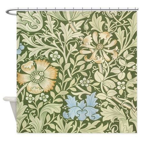 floral design curtains william morris floral design shower curtain by fineartdesigns