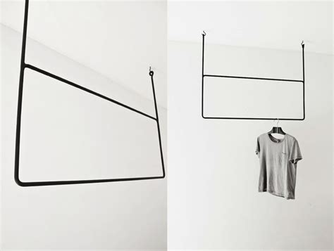 Ceiling Mounted Clothes Rack by Clothing On