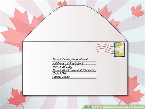where does st go on envelope how to address an envelope to canada 6 steps with pictures