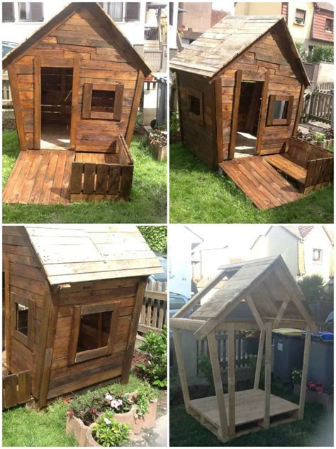 play huts 25 ideas to recycle pallets in pallet playhouses