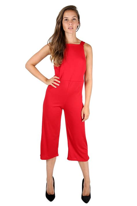 Jumsuit Anak Size S 3 womens 3 4 length all in one wide leg palazzo playsuit jumpsuit plus size ebay