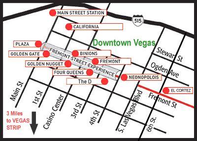 map of las vegas downtown casinos las vegas hotel map