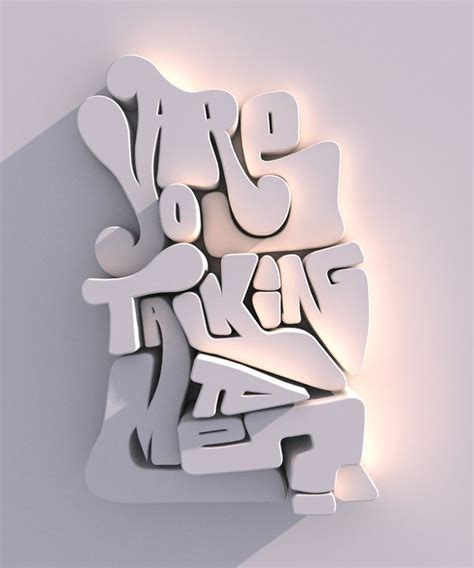 i typography font are you talking to me typography 3d type and focus on