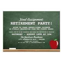 teacher retirement party invitation 5 quot x 7 quot invitation