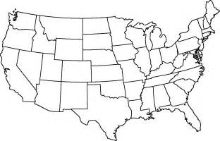 black and white us map with state names blank states map dr