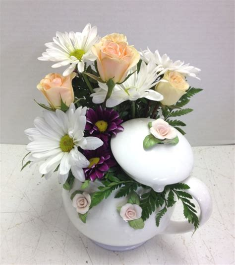 5pcs Fresh Pink Tea High Artificial Flower Home Tea Time Flowers In A Tea Pot Or Cup And Saucer