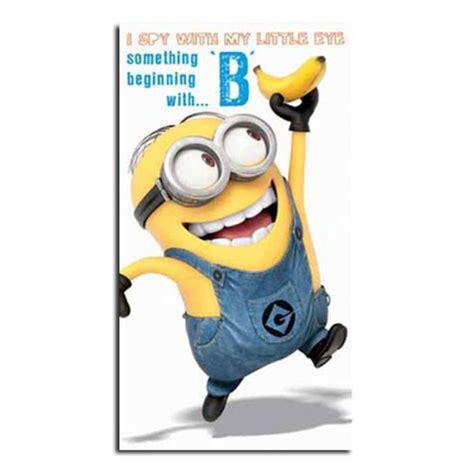 Pp Banana Ie minion birthday card collection ebay